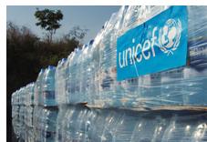 UNICEF levererar vatten